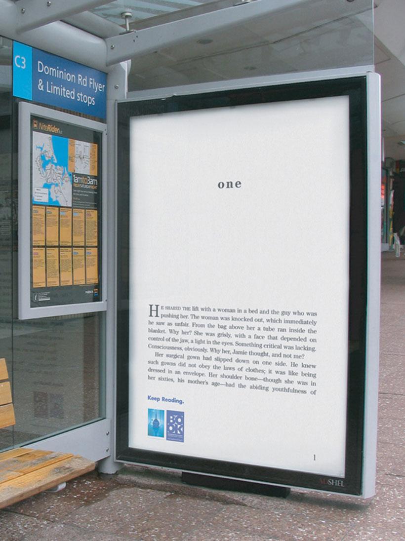 NZ Book Council bus-stop billboard