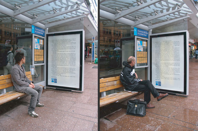 NZ Book Council bus-stop billboards