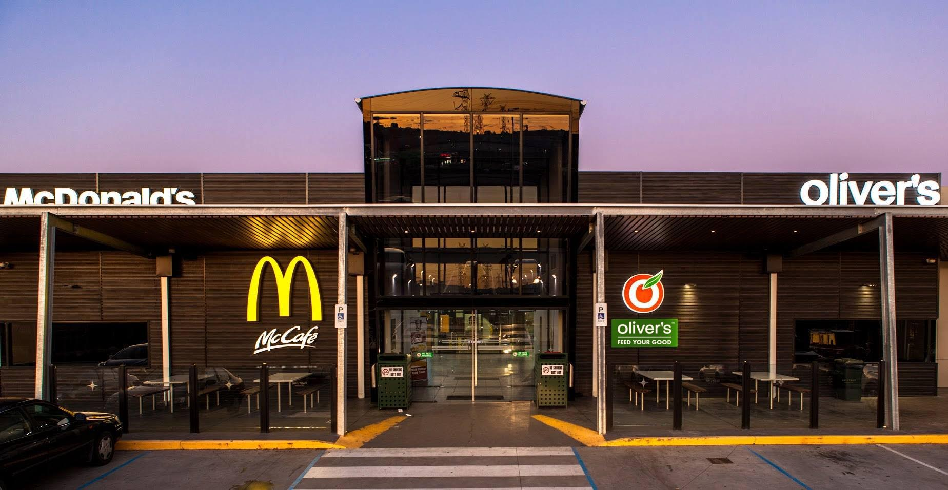 Oliver's next to McDonald's